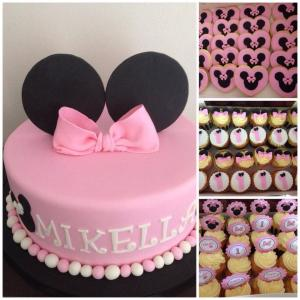 kids minnie mouse cake